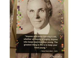 Posters of inspirational quotes were spread throughout the conference hall.